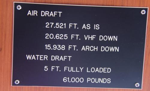 Our air draft