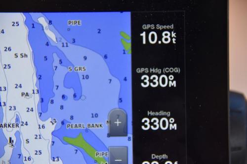 We had a bit of a push through Key West