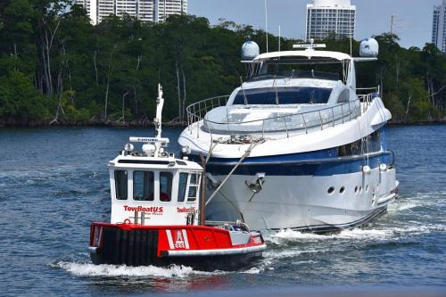 Towing a run down mega yacht