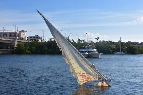Another derelict sunken boat