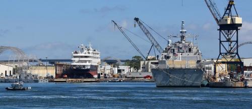 Guarding the warship