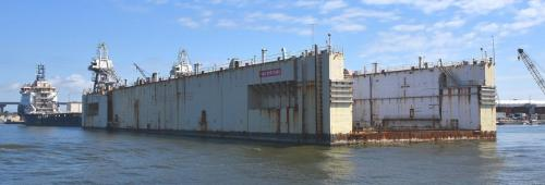 Floating dock at BAE Systems