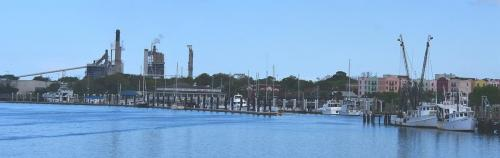 Passing Fernandina City Marina