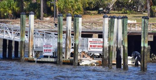Ferry dock closed