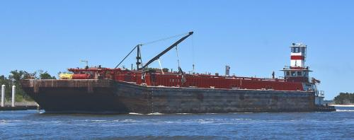 Tug and barge in Sister's Creek
