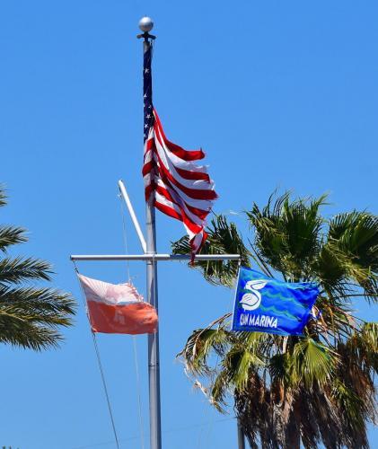 Worn Kingfish Tournament flags