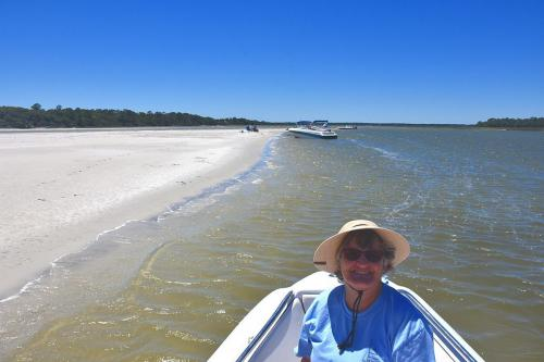 Social distancing on the sandbar