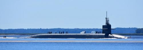 Ohio class sub going into Kings Bay