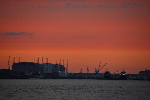 Sunset over Kings Bay Submarine Base