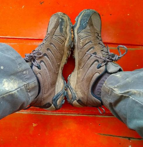 Mucky hikers