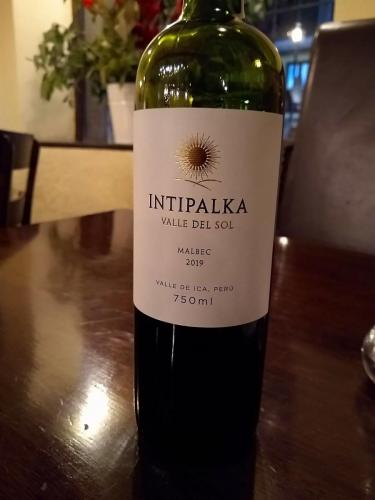 We found a Peruvian wine we really liked