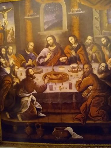 Cuzco Cathedral, the last supper with guinea pig